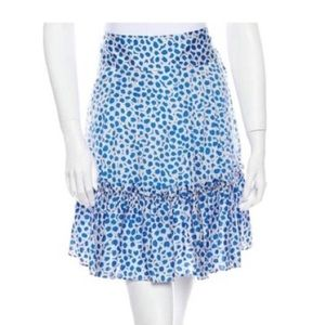 Marc Jacobs white blue floral ruffle skirt 2